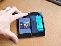 VIDEO Telefonul dublu! Poate fi folosit si ca tableta