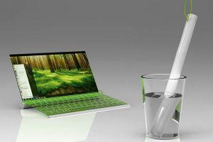 CONCEPT Laptopul care se incarca din apa, nu de la priza