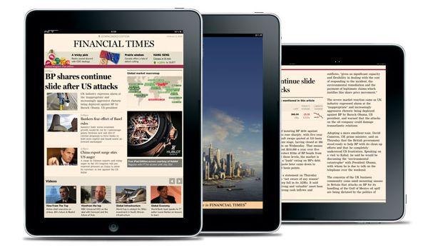 Financial Times nu va mai fi disponibil pe iPhone si iPad