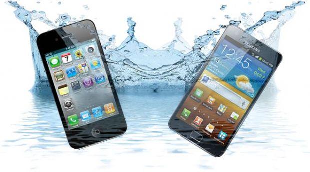 VIDEO Galaxy S III si iPhone 5 rezistente la apa? Vezi cum functioneaza doua tehnologii revolutionare
