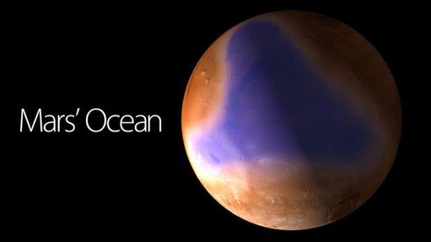 FOTO: Imaginea care iti va taia respiratia: prima fotografie cu oceanul de pe Marte