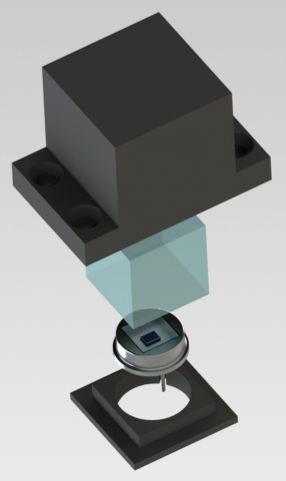 Fotodioda si scintilator montate pe satelit