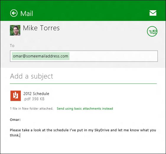 SkyDrive & Windows 8
