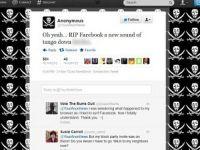 Motivul pentru care Facebook nu a functionat timp de 3 ore. Anonymous isi lauda victoria pe Twitter