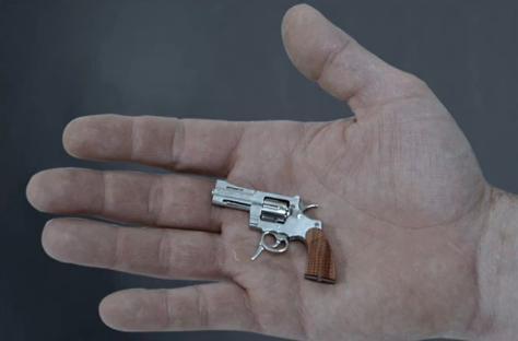 Video fabulos. Cum arata cea mai mica arma din lume si cat e de periculoasa