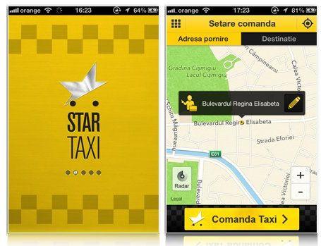 Comanda taxi online in doar cateva secunde. Aplicatia Star Taxi iti aduce masina la scara