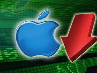 Apple o ia in jos. Compania are o perioada grea pe bursa