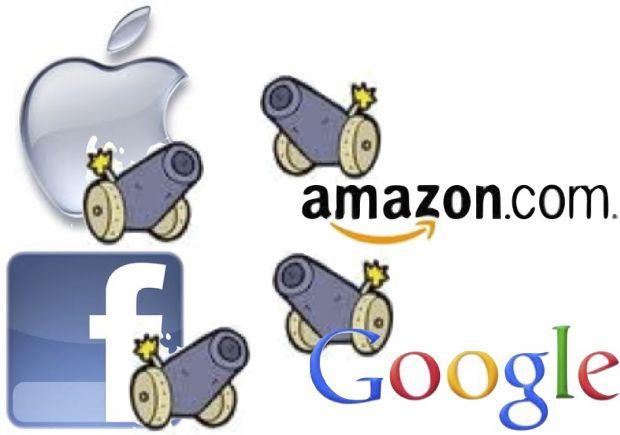 Razboiul dintre gigantii IT continua si in 2013. Ce pregatesc Apple, Google, Facebook si Amazon