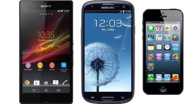 Xperia Z vs. Galaxy S III vs. iPhone 5