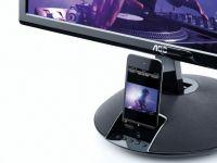Monitorul AOC E2343Fi cu dock pentru iPhone. Vezi filmele direct de pe telefon