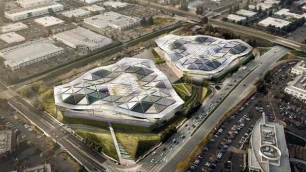 Templul jocurilor. Noul sediul al NVIDIA arata extraterestru