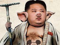 Imaginea postata de hackerii de la Anonymous, dupa ce au spart site-ul de propaganda al dictatorului nord-coreean