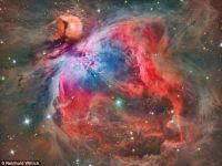 Nebuloasa Orion, fotografiata cu ajutorul unui telescop pentru amatori