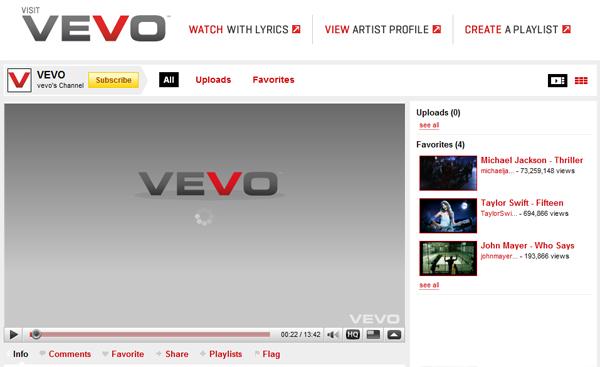Serviciul muzical online Vevo ar putea revitaliza industria muzicala