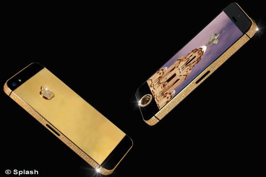 Cel mai scump iPhone 5 din lume costa 15 mil dolari.Butonul home a fost inlocuit de un diamant negru