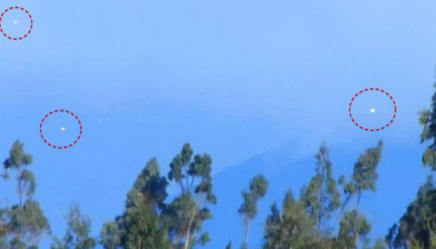 Un OZN in forma de diamant, filmat pe cerul Californiei VIDEO