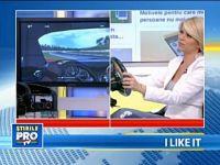 iLikeIT. Andreea Marinescu conduce un simulator auto construit de un roman din piese vechi