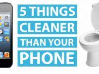Cat de murdar este telefonul tau mobil. Top 5 obiecte care, in mod neasteptat, sunt mai curate