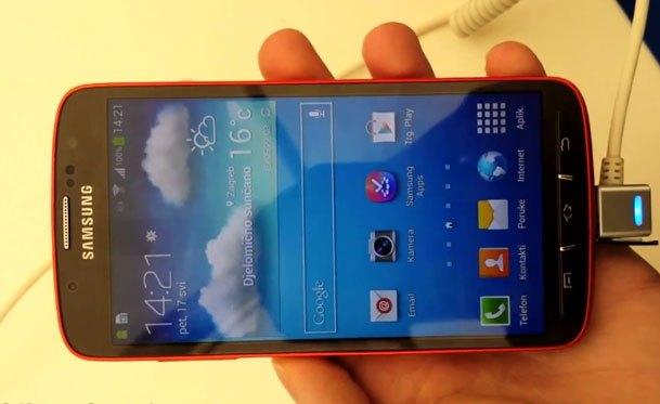 Samsung Galaxy S4 Active, surprins intr-un video