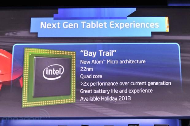 Intel va lansa noile procesoare Bay Trail pentru tabletele si ultraportabile la sfarsitul anului