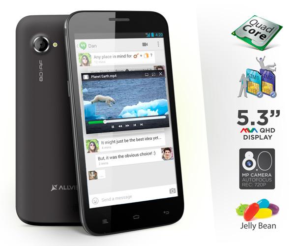 Allview P5 Qmax, un smartphone romanesc cu ecran gigantic, lansat acum. Poze si specificatii