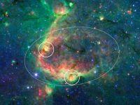 Telescopul Spitzer a indentificat o stea tanara la periferia galaxiei noastre
