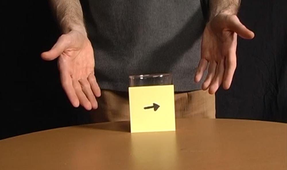 Problema: Cum schimbi directia sagetii fara sa atingi hartia