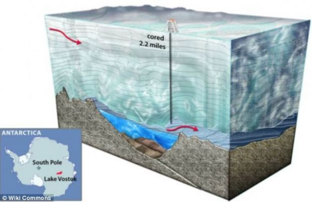 Mii de forme de viata descoperite sub 3,7 kilometri de gheata, in Antactica