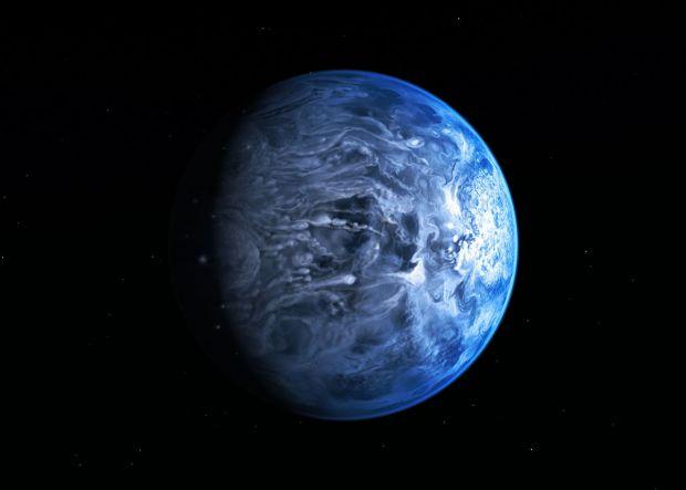 Hubble gaseste o planeta albastra.  Nu ne asteptam la asta