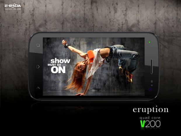 Eruption V200 si Storm V100, primele smartphone-uri marca E-Boda. Procesor rapid, pret mic