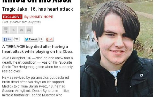 Un tanar britanic de 16 ani a murit de atac de cord in timp ce se juca pe Xbox