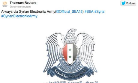 Contul de Twitter al celebrei agentii de stiri Reuters a fost  spart  de hackerii sirieni