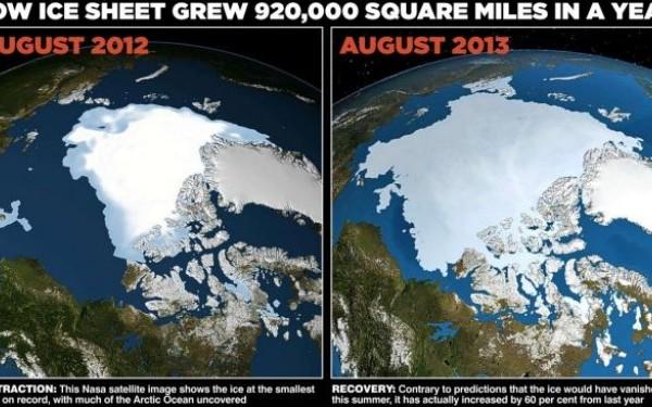 Racirea globala, fenomenul surprins la Arctic. Cum s-a marit calota glaciara cu 60% intr-un an