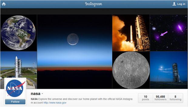 NASA si-a facut cont pe Instagram FOTO