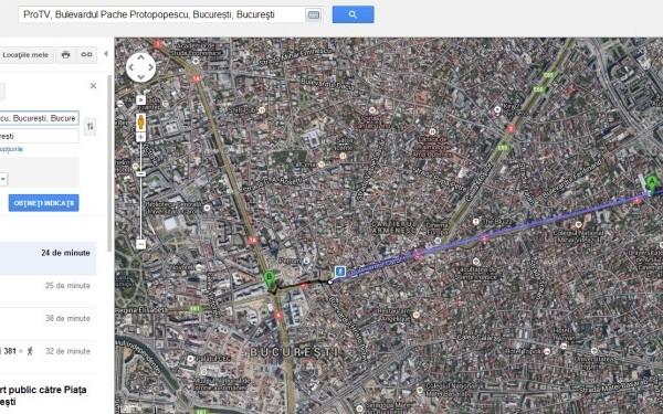 7 orase din Romania au transport public pe Google Maps