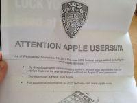 Ce mesaj au primit de la politie toti cei care si-au descarcat noul iOS 7 pe iPhone