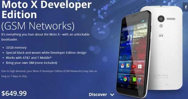 Moto X a fost lansat de Google pentru dezvoltatori la pretul de 649 dolari