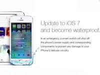 iOS 7 iti face telefonul rezistent la apa.  Ultima farsa aparuta pe net pentru posesorii de iPhone