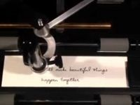 Imprimanta care scrie  de mana