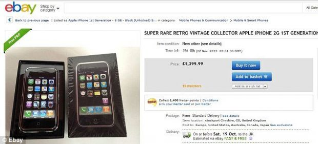 Colectionarii ofera chiar si 2.000 de dolari pe primul iPhone daca acesta este in cutia originala si nedesfacut