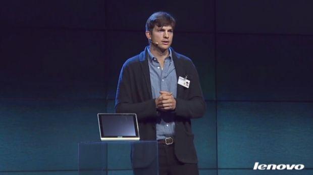 Lenovo Yoga, tablete cu o autonomie de 18 ore promovate de Ashton Kutcher. VIDEO