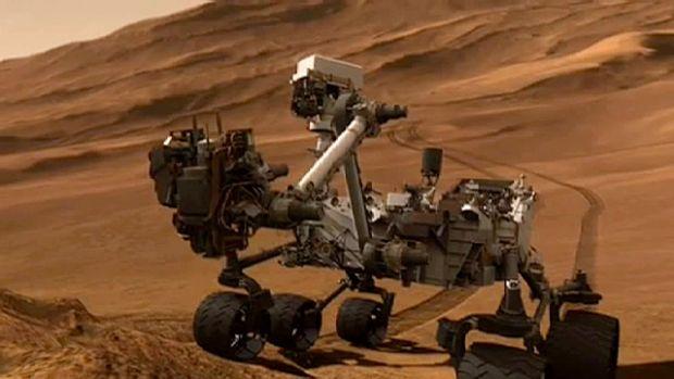 Imagini uimitoare surprinse de robotul Curiosity pe planeta Marte.  Seamana cu o reptila!  FOTO si VIDEO