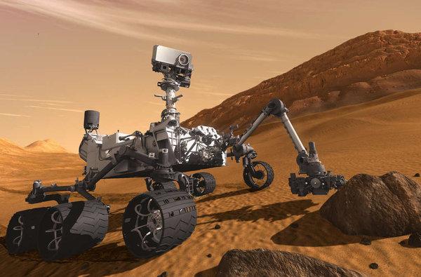Robotul american Curiosity a descoperit dovezi ca pe Marte exista un lac cu apa dulce
