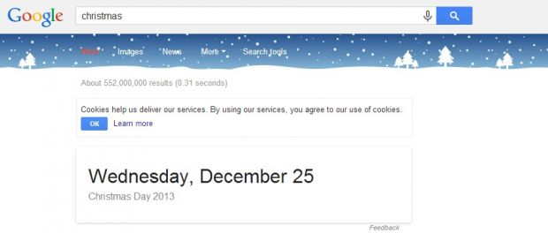 CADOU DE CRACIUN de la Google. Ce se intampla daca scrii  Christmas  pe Google
