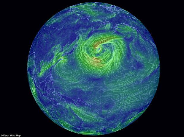 Harta interactiva a curentilor de aer, o minunatie! VIDEO