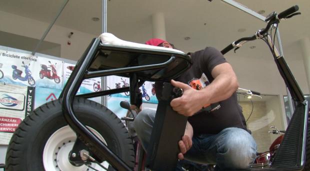 Cea mai  cool  trotineta din lume a fost inventata in Alba Iulia.  Trotineto  are motor electric. VIDEO