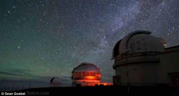 Calea Lactee,  dans  spectaculos pe cerul hawaiian VIDEO