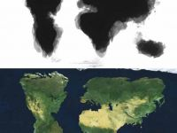 Harta lumii desenata  din amintiri  nu contine Marea Britanie, Alaska si Japonia