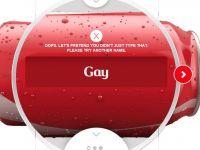 Ce se intampla cand scrii  Gay  in aplicatia lansata de Coca Cola pentru jocurile de iarna de la Soci