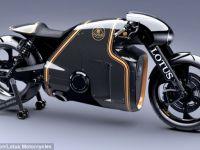 Lotus se pregateste de lansarea unei motociclete care arata precum cele din filmul  Tron